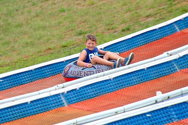 Riding down the Tubing Hill