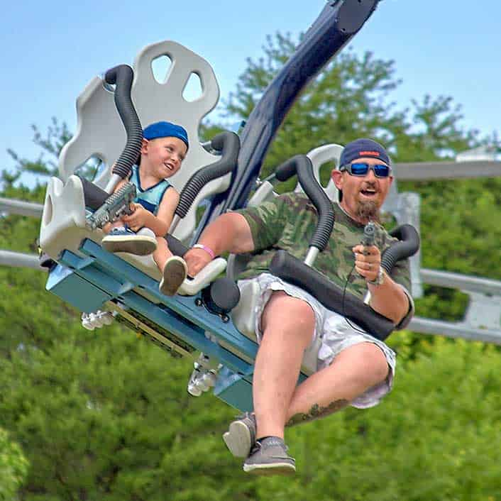 Laser gun coaster